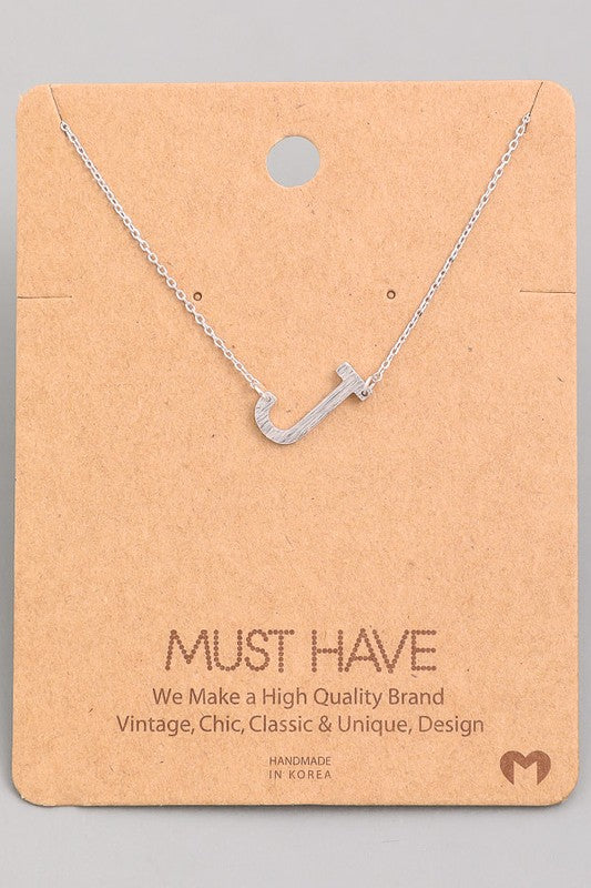 Must Have Hanging Initial Necklace | Silver
