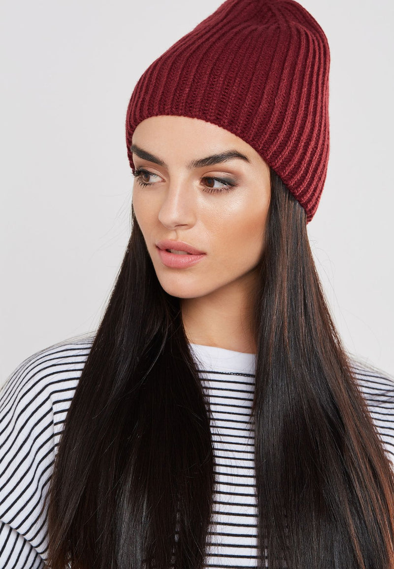 Only Linkie Knit Beanie - Cordovan