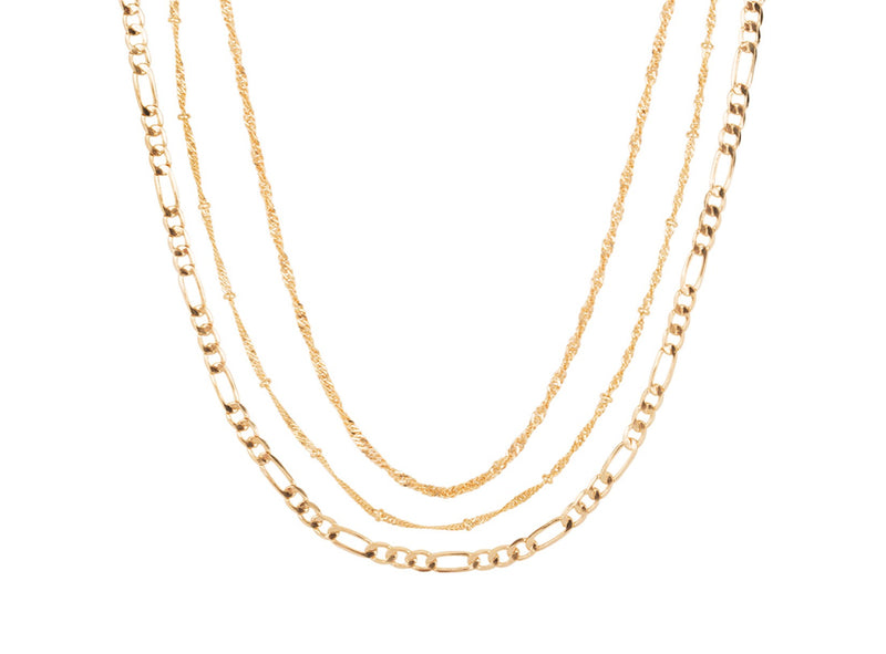Club Manhattan Gold Stack It Up Necklace Set