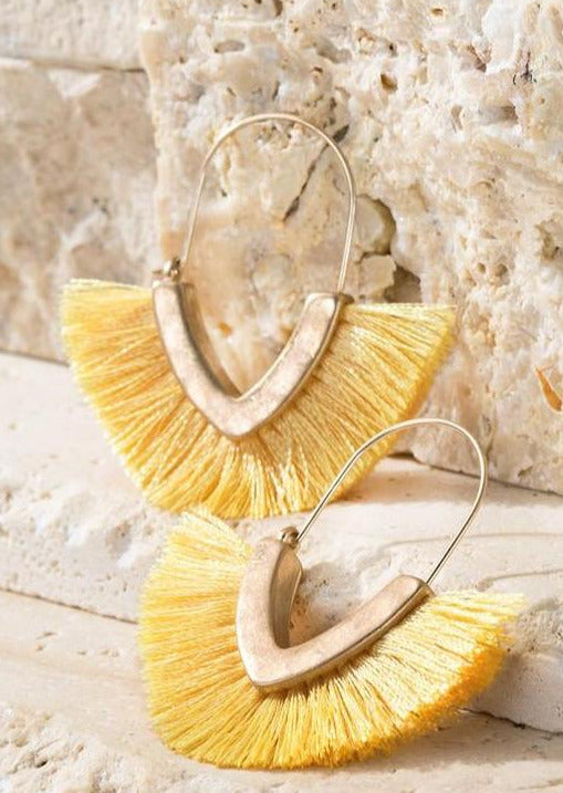Festival Tassel Fringe Earrings | Daffodil
