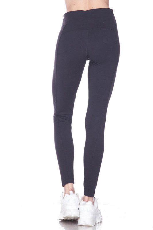 Brushed Highwaisted Pocket Legging | Black