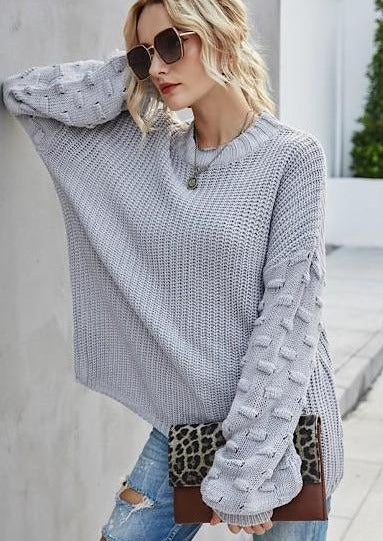 The Lantern Sweater | Silver