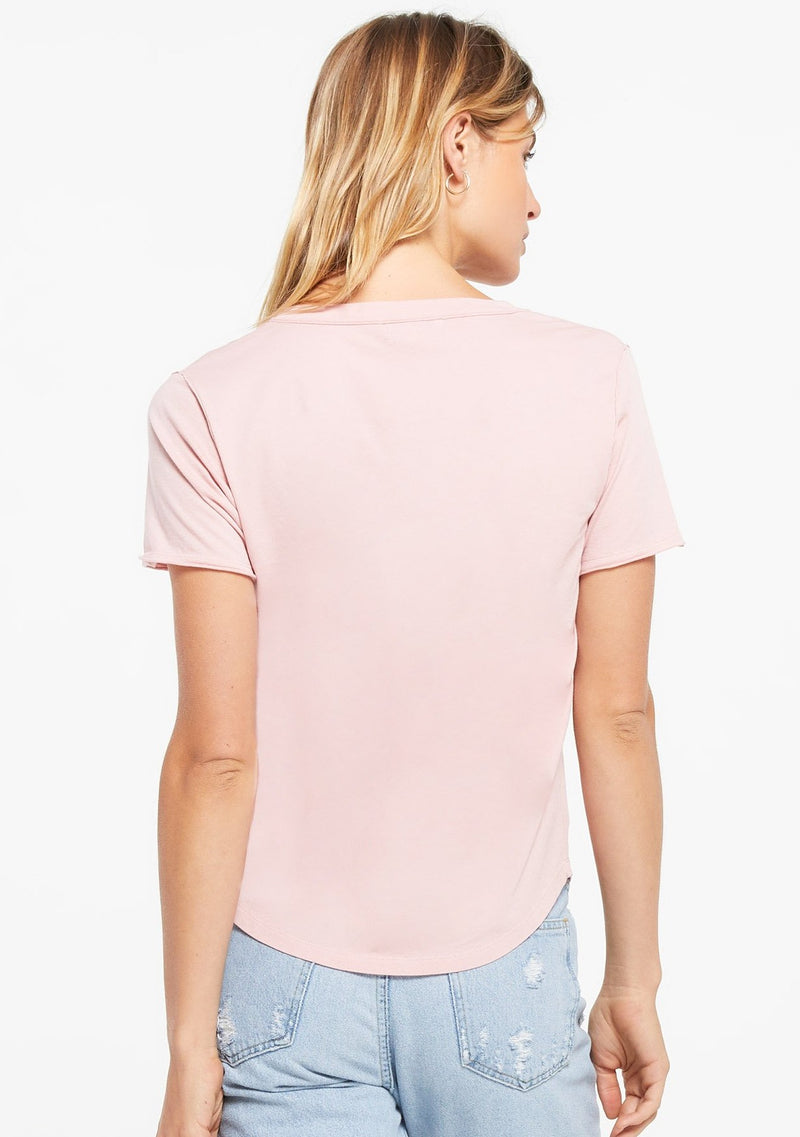 Z Supply Organic V-Neck Tee | Pale Mauve