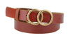MW Leather Double Circle Belt-Tan