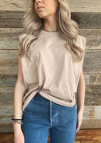 The Frankie Muscle Tee | Rose Taupe