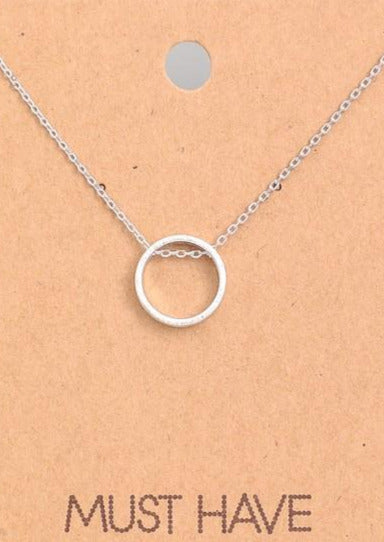 MUST HAVE Circle Necklace - Silver