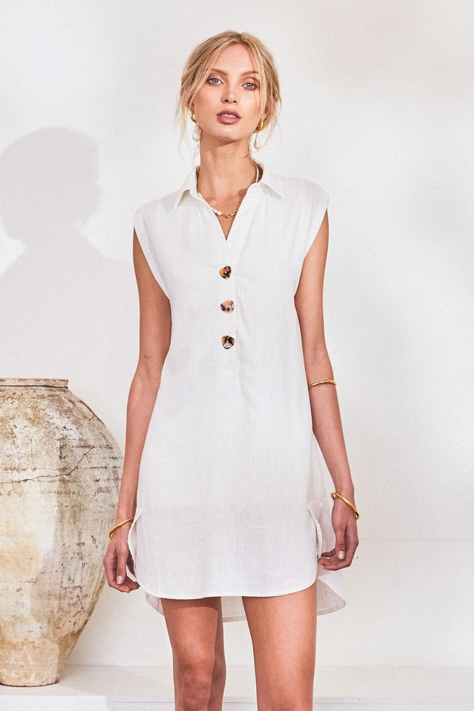 Lost in Lunar Vanessa Dress | White