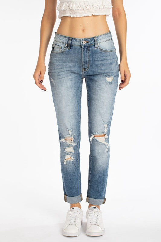 Kancan | The Perfect Distressed Mom Jean