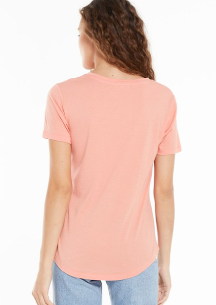 Z Supply Kasey Modal Tee | Shell Coral