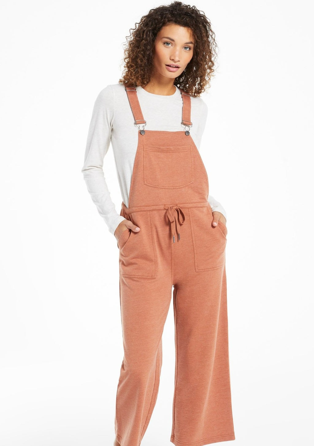 Z Supply Cinched Waist Overalls | Vintage Brown