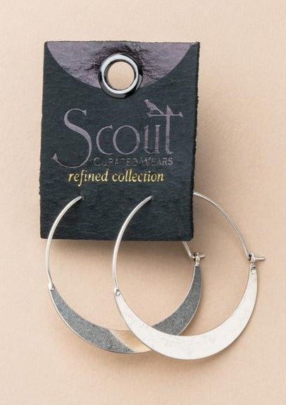 Scout Refined Crescent Hoops | Sterling Silver