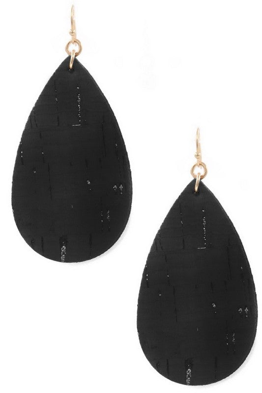 Earth Love Cork Earrings | Black