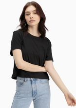 Load image into Gallery viewer, VERO MODA Aware Short Sleeve Tee - Black