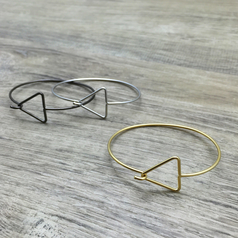FAB Open Triangle Bangle Bracelet | Several Colours B259
