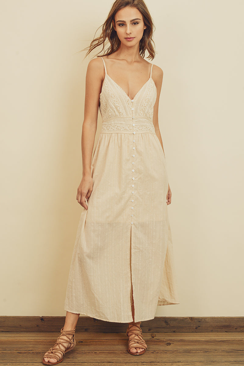 Lakelyn Button Up Maxi Dress