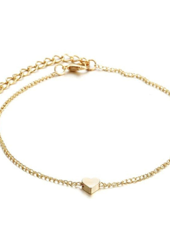Bella Heart Anklet - Gold