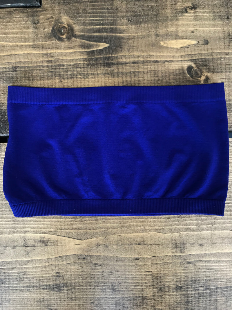 Cezanne Seamless Bandeau-Denim Blue