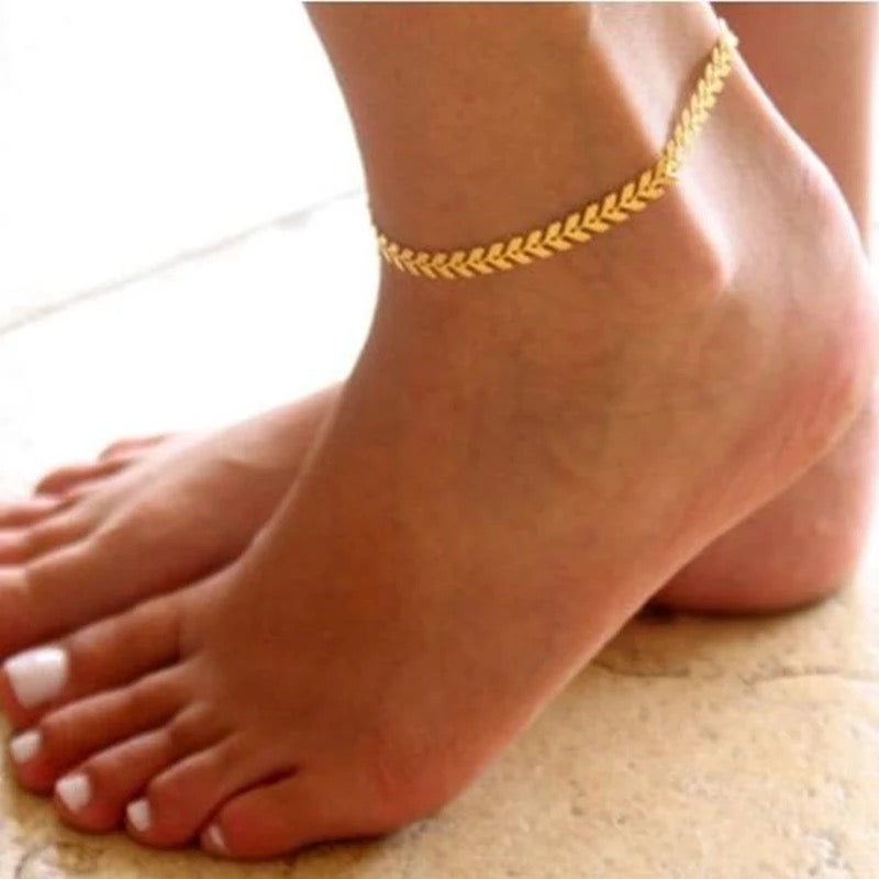 Bella Jewelry Arrow Anklet | Gold
