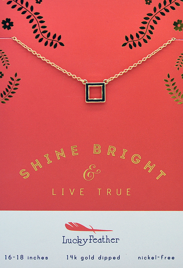 Lucky Feather Shine Bright Necklace - Live True