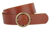 MW Leather Belt- Tan/Copper Buckle