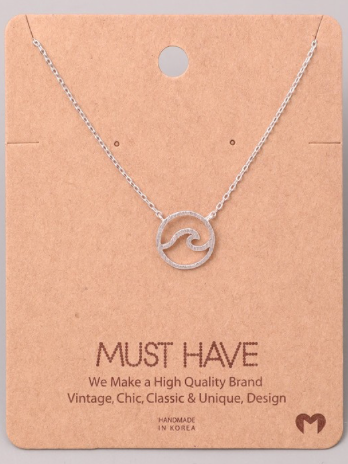 Wave Necklace | Silver