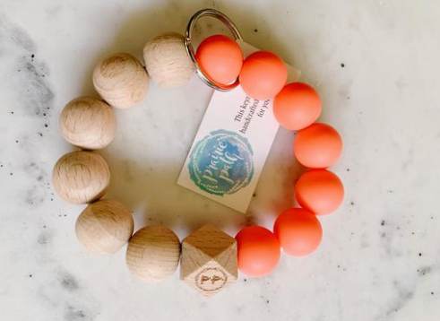 Prairie Path Wooden Key Rings | Multiple Colours