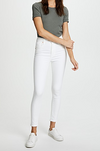 Levi's Mile High Ankle Super Skinny Jeans - White