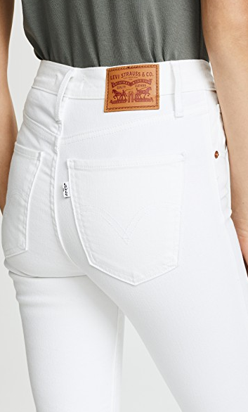 Levi's Mile High Ankle Skinny Jeans - White