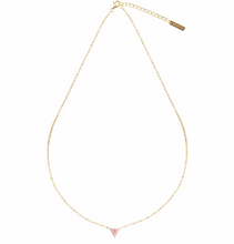 Load image into Gallery viewer, PARK AND BUZZ Mermaid Triangle Opal Necklace | Gold and Pink Opal