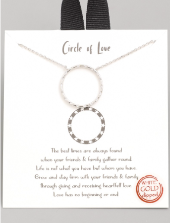 Circle of Love Pendant Necklace | Silver