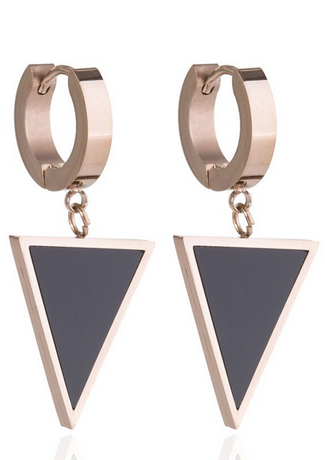 Bella Triangle Huggie Earrings | Gold