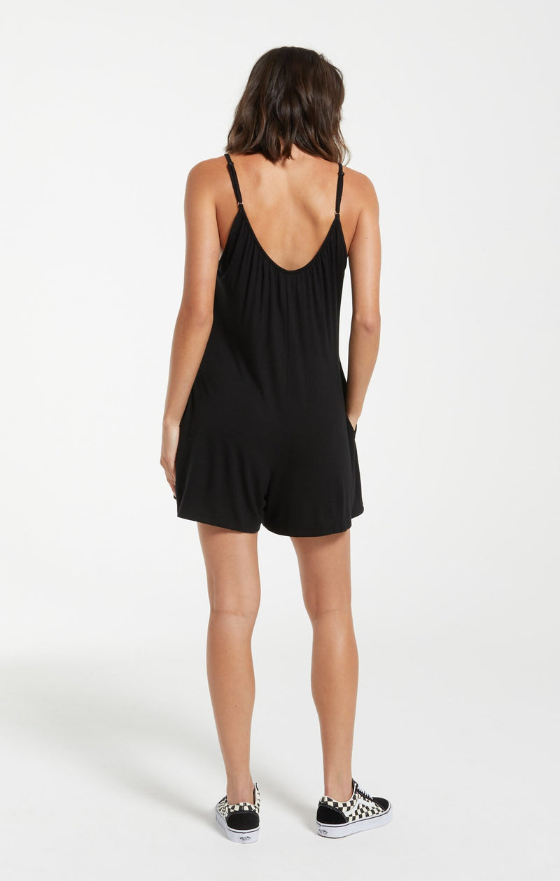Krista Sleek Romper | Black