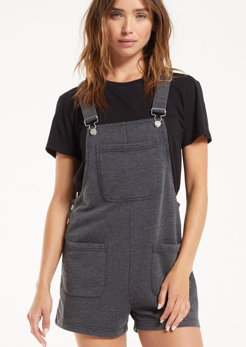 Z Supply The Short Overalls | Black