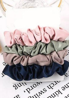 Bella Scrunchie 4-Pack | The Messy Bun Collection #2
