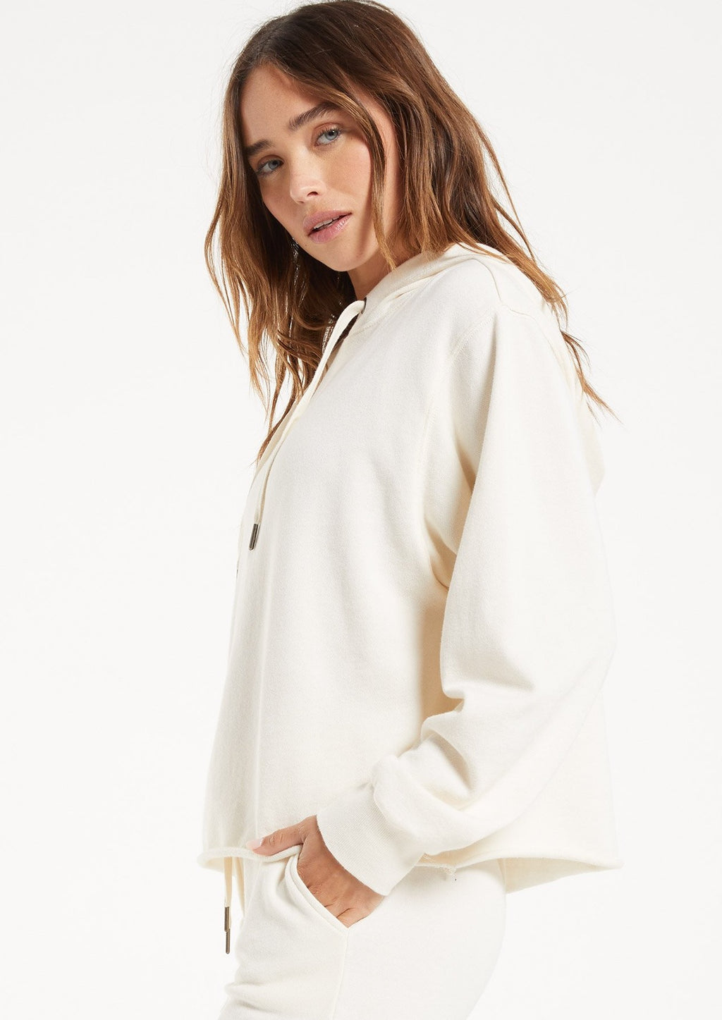 Z Supply The Addyson Hoodie | Sand Dollar