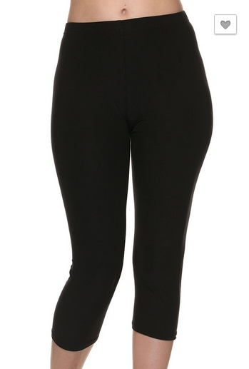 Brushed Capri Legging | Black