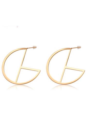 Bella Geo Circle Earrings