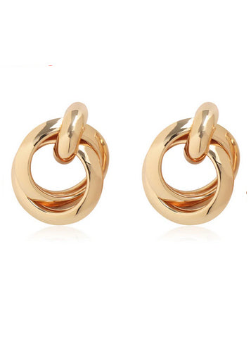 Bella Circle Twist Earrings