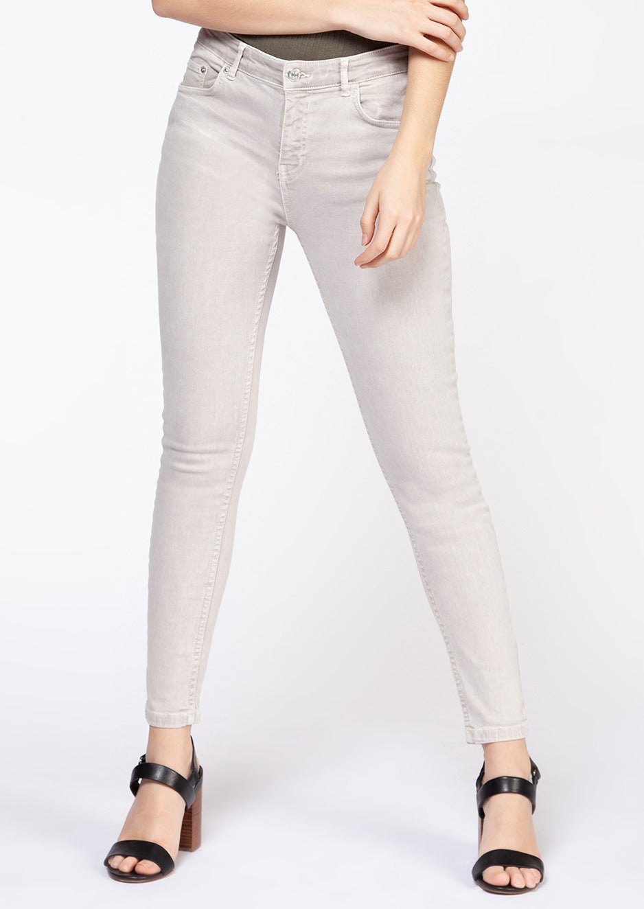 Dex Zoe High Rise Ultra Skinny Jeans | Alabaster Wash
