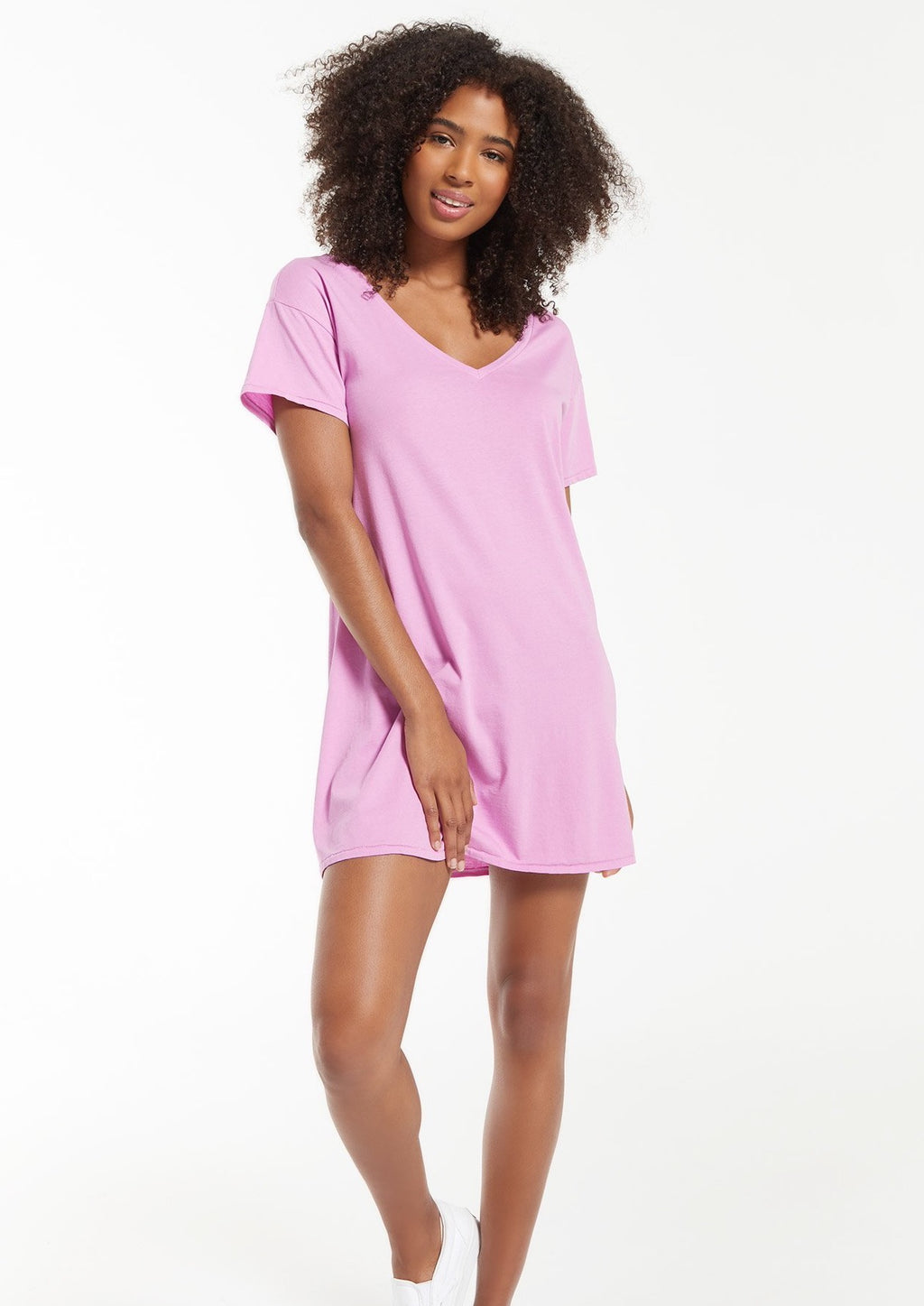 Z Supply The Birdie Organic Mini Dress | Violet