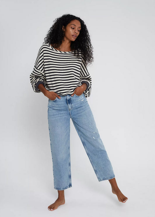 Free People Frank Dad Jean - Sunday Blue