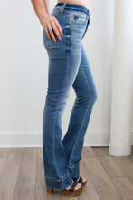 Load image into Gallery viewer, Kancan-Mid Rise Bootcut w/ Hem Detail
