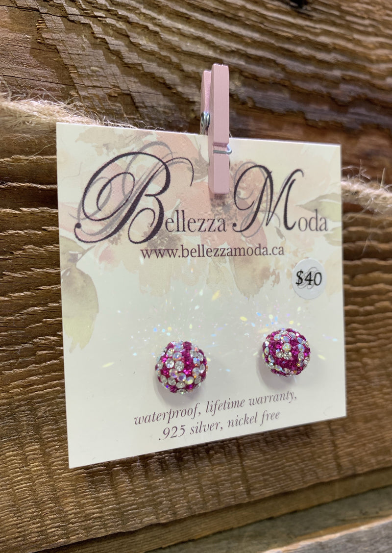 Bellezza Moda Sparkle Earrings| 10mm