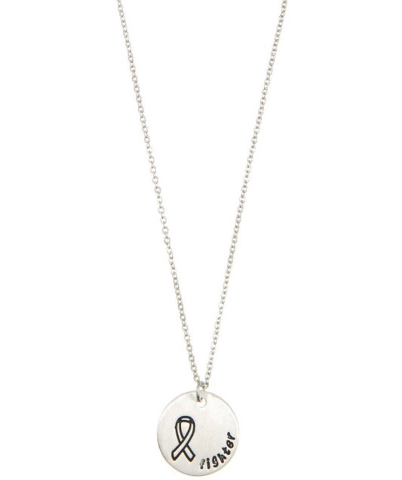 Bella Cancer Fighter Necklace - Silver