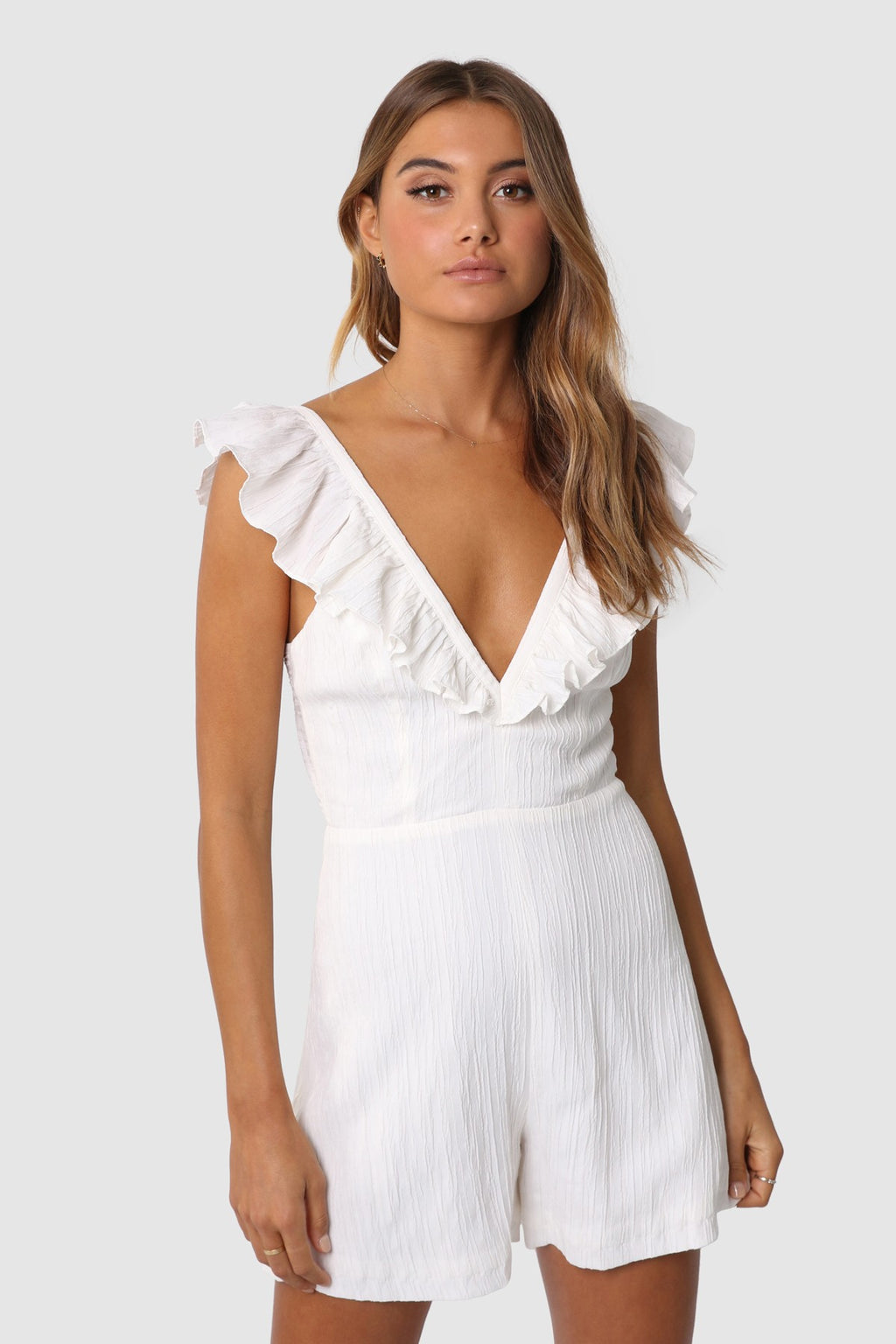 Lost In Lunar Lena Playsuit - White