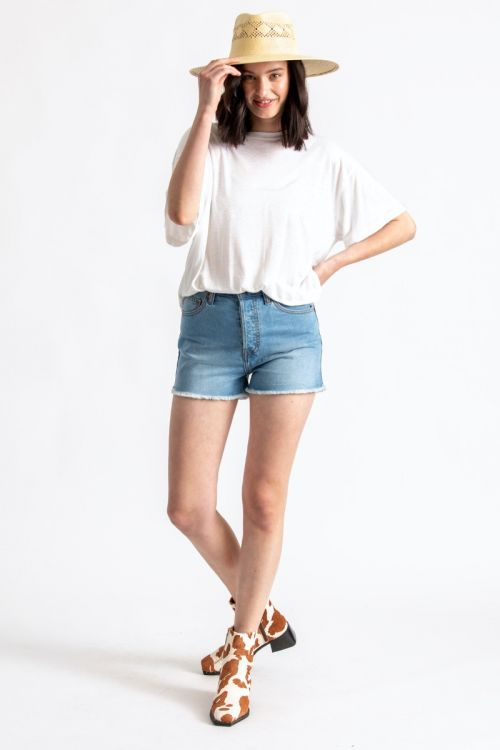 Brixton Natasha Cut-Off Shorts | Faded Indigo