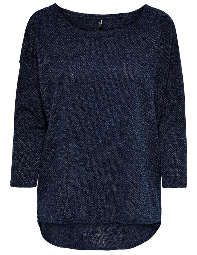 Only Alba 3/4 sleeve Top - Mood Indigo