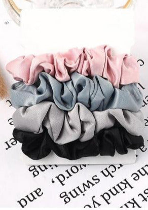 Bella Scrunchie 4-Pack | The Messy Bun Collection
