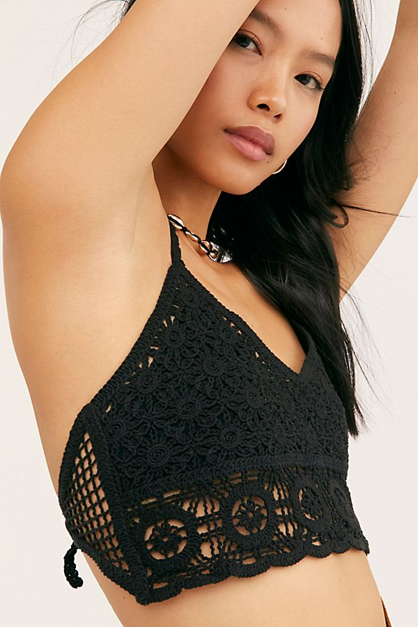 Free People Sydney Crochet Bralette | Black
