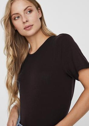 Vero Moda Aware Ava T-Shirt | Black